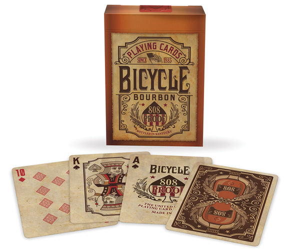 Vintage bourbon playing cards
