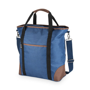 Insulated cooler denim tote bag