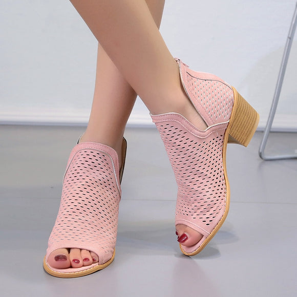 Women's fish mouth wedge sandals