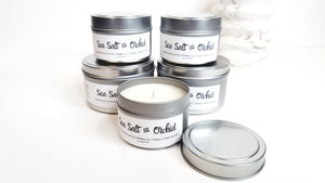 Sea Salt and Orchid Natural Soy Hand-Poured, Hand-crafted Candle
