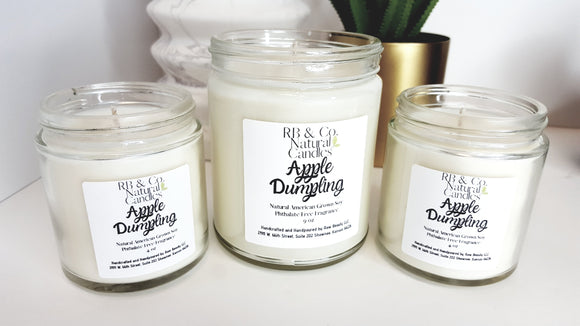 Apple Dumpling Scented Natural Soy Hand-Poured, Hand-Crafted Candle