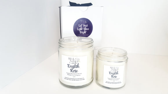 English Rose Scented Natural Soy Hand-Poured ,Hand-Crafted Candle