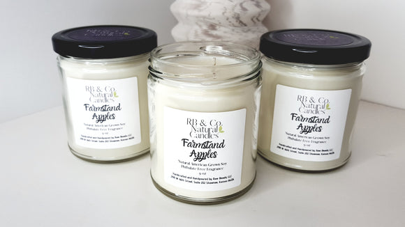 Farmstand Apples Scented Natural Soy Hand-Poured, Hand-Crafted candles