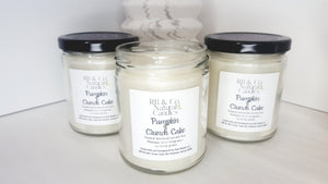 Pumpkin Crunch Cake Scented Natural Soy Hand-Crafted, Hand-poured Candle