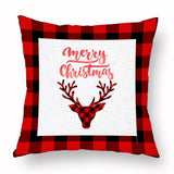 Christmas Red and Black Accent Pillow Cases