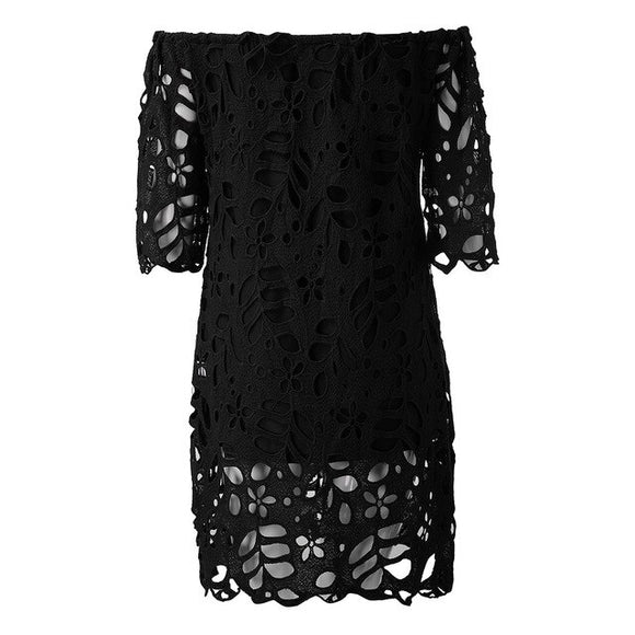 Women's Lace off shoulder mini dress