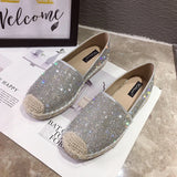 Women's glitter espadrilles Slip on