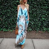 Tie dyed printed sleeveless sundress