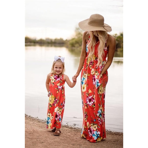 Mother and Daughter Floral Summer Dress