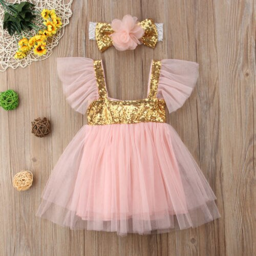 Girl's Princess dress with Sequins and tulle