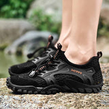 Summer Breathable Men Hiking Shoes Suede + Mesh Outdoor Men Sneakers