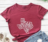 Texas Rose Graphic T-shirt
