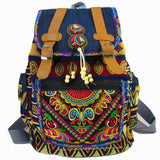 Embroidered Boho style backpack