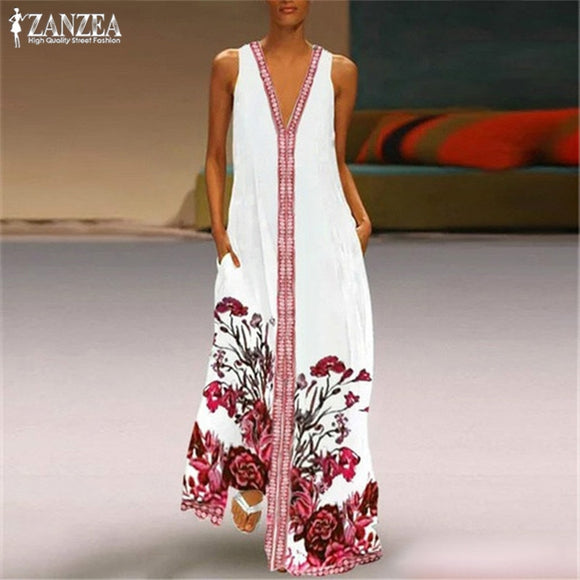 Women's long bohemian style sundress