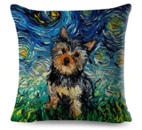 """Oil Painting"" themed animal print pillow case covers"