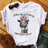 Women's Crazy Heifers Graphic Cow T Shirts