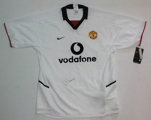 2002-03 Signed Nike Manchester United Jersey (Away) (L)