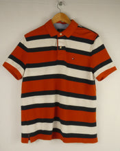 Load image into Gallery viewer, Vintage Tommy Hilfiger Striped Polo T-Shirt (M)