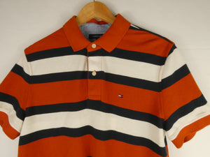 Vintage Tommy Hilfiger Striped Polo T-Shirt (M)