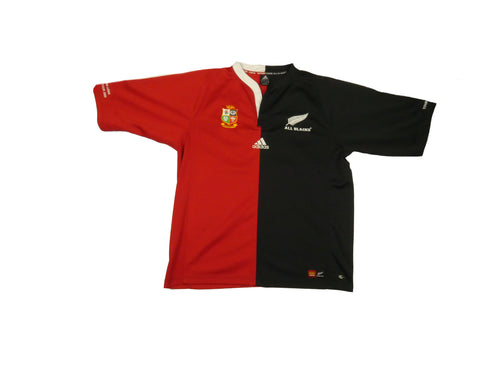2005 Adidas British Lions // All Blacks Commerative Rugby Jersey (L)