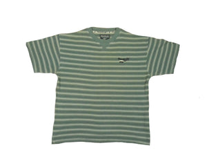 Vintage Reebok Striped T-Shirt (M)
