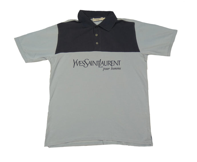 Vintage YSL Spellout Polo T-Shirt (S)