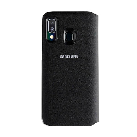 Wallet Case Black for Galaxy A40
