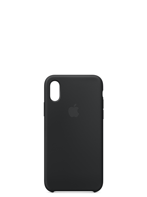 Silicone Case Black for iPhone XS