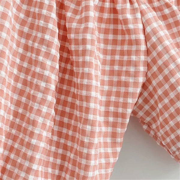 BEALE gingham top