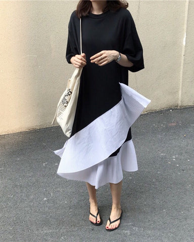 HEPBURN pleated shirt dress