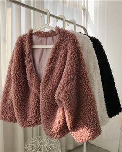 PARADIS faux lamb jacket