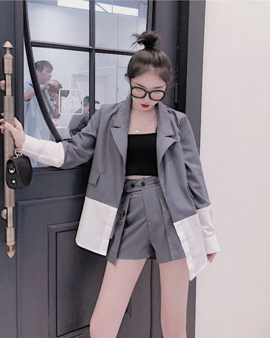 HAUSER blazer and shorts set