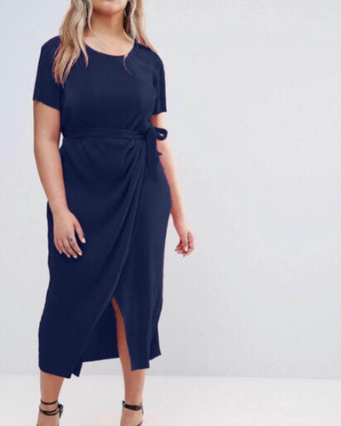 ZILLAH faux wrap dress