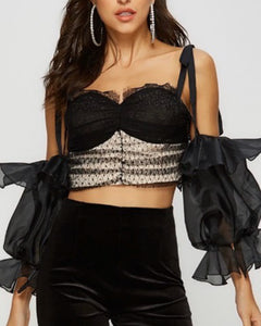 DELIA ruffled bralette top