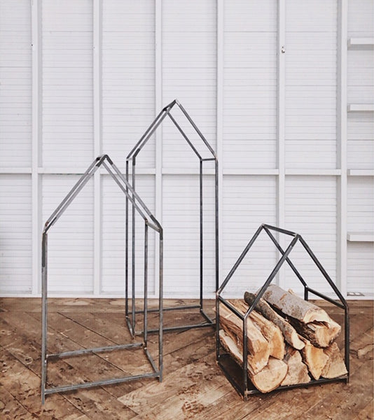House-shaped log holder - Pepin