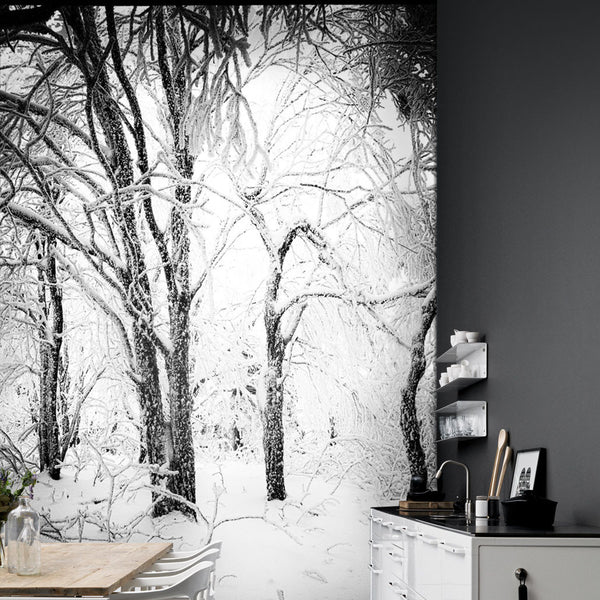 Calming Winter Forest Mural