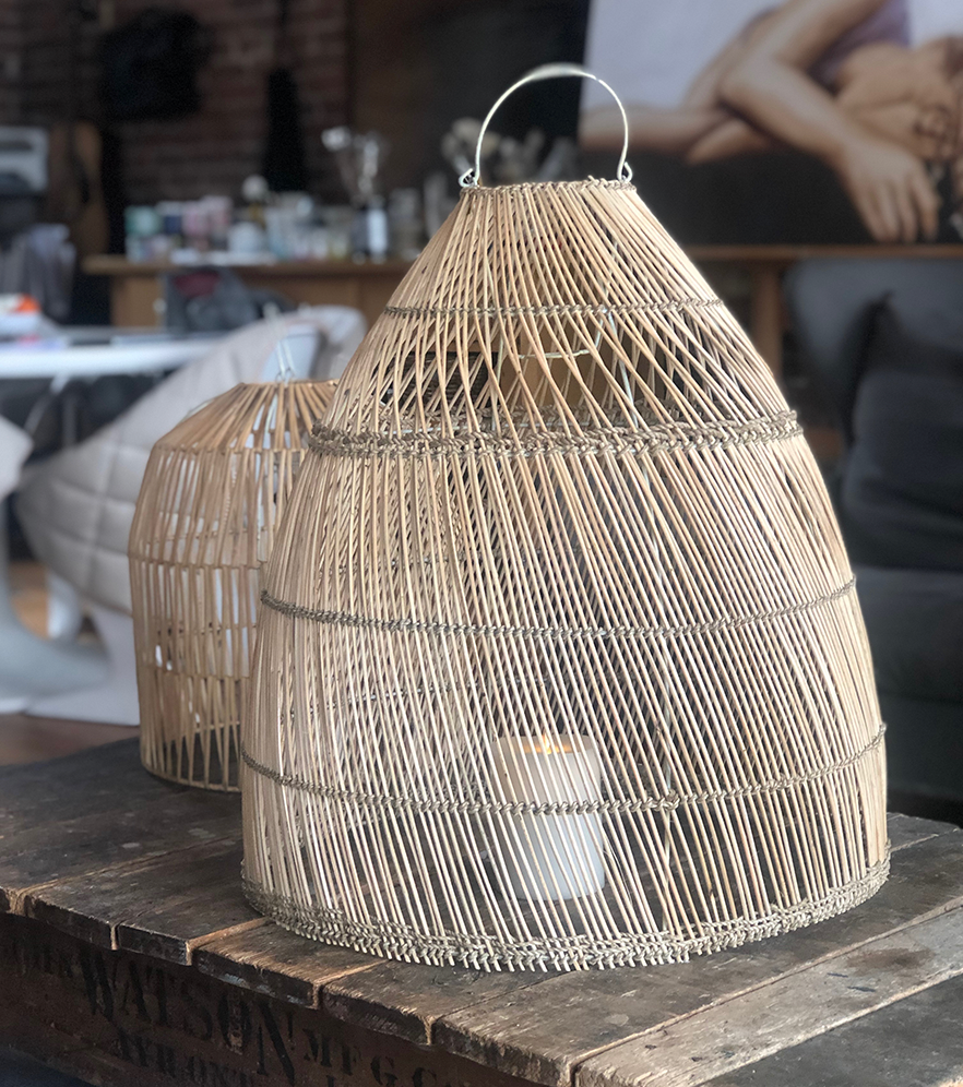 Wicker and Rattan Basket Lamp shade