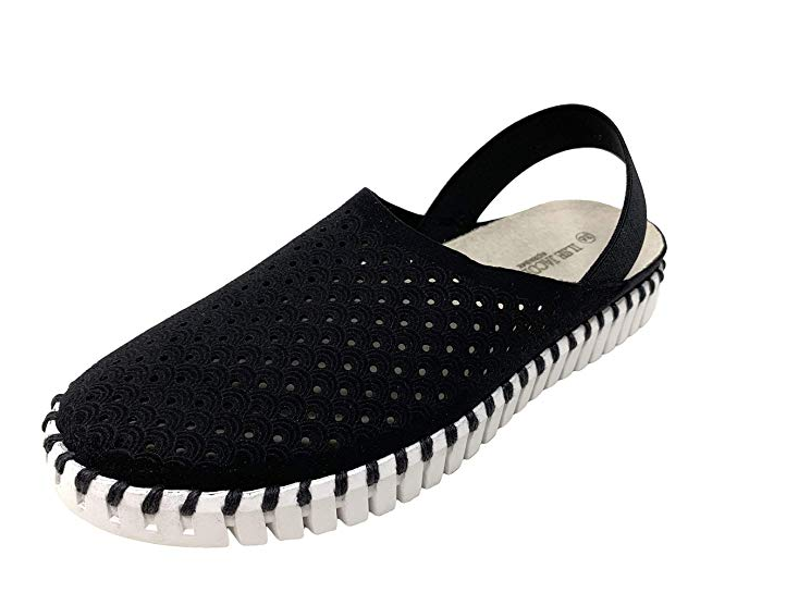 Perforated Slingback Tulip Flats