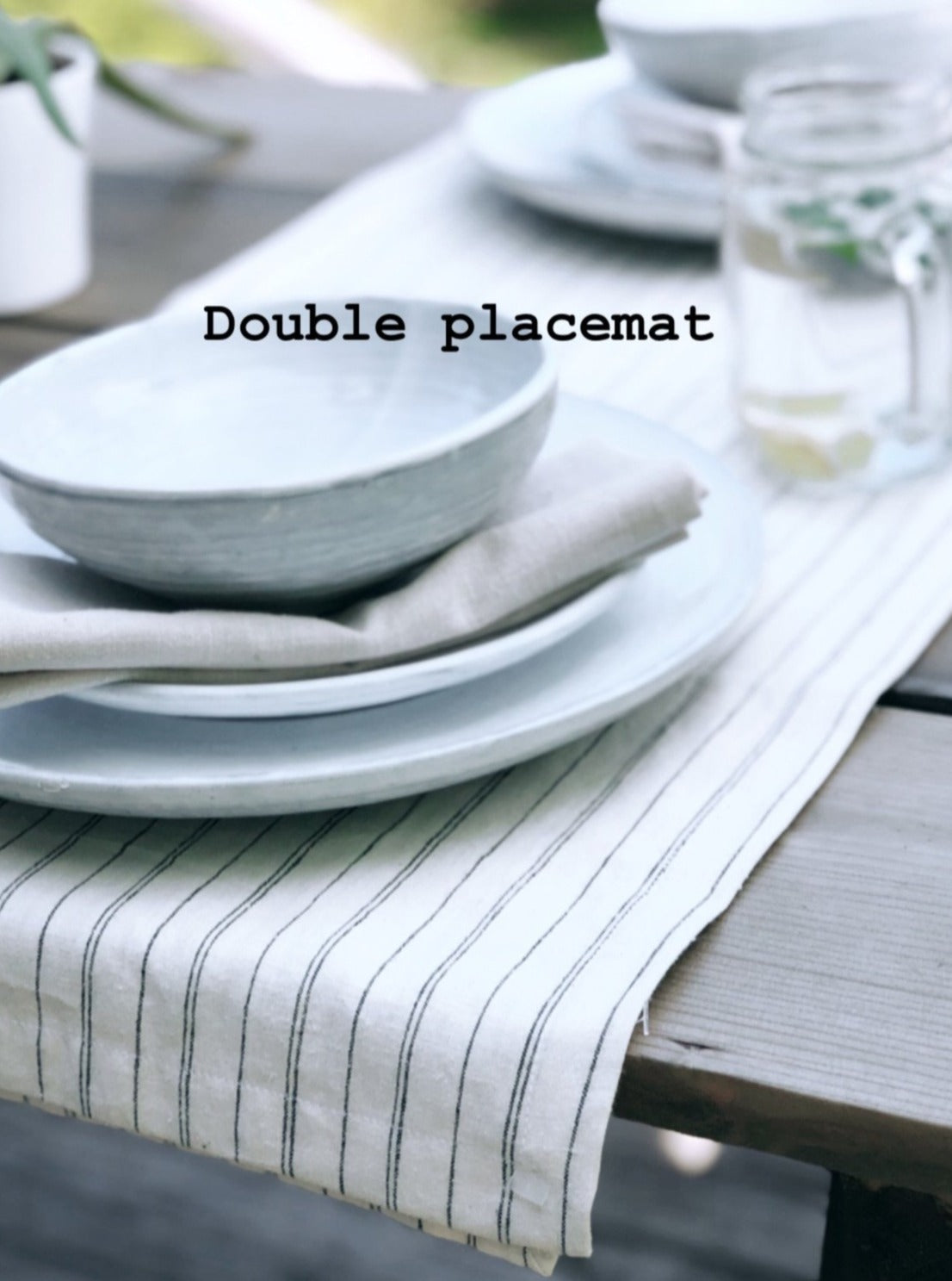 Handmade from super-soft runner or double placemat and hand Towels Creme