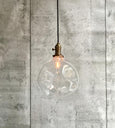 Pendant hand blowned Glass Bulb Light Clear