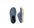 Glerups Denim Felt Open Heels Slippers