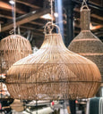 "Wicker Basket Lamp shade 24""D-18""H"