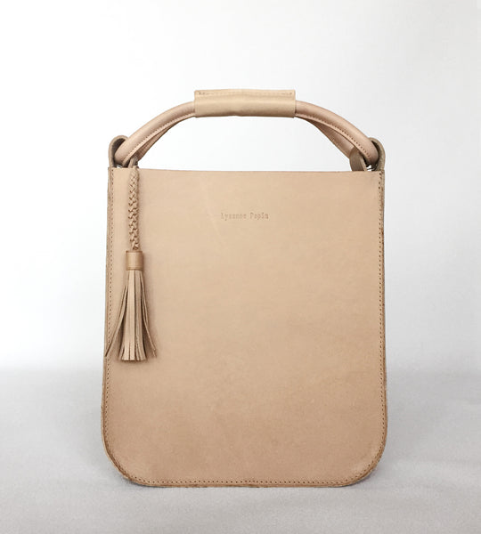 The Skipper Bag in Nude by Lysanne Pepin Limited Edition