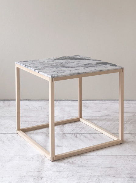 Side Table KUB  Marble & Wood
