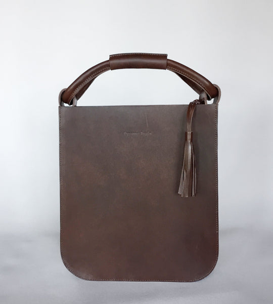 The Skipper Bag in Brown by Lysanne Pepin Limited Edition