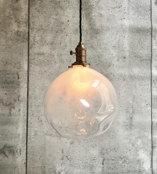 Pendant hand blowned Glass Bulb Light Cloud