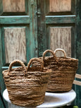Seagrass Basket Natural Braides with Handles