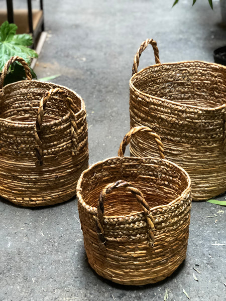 Banana Leaves Basket with Handles