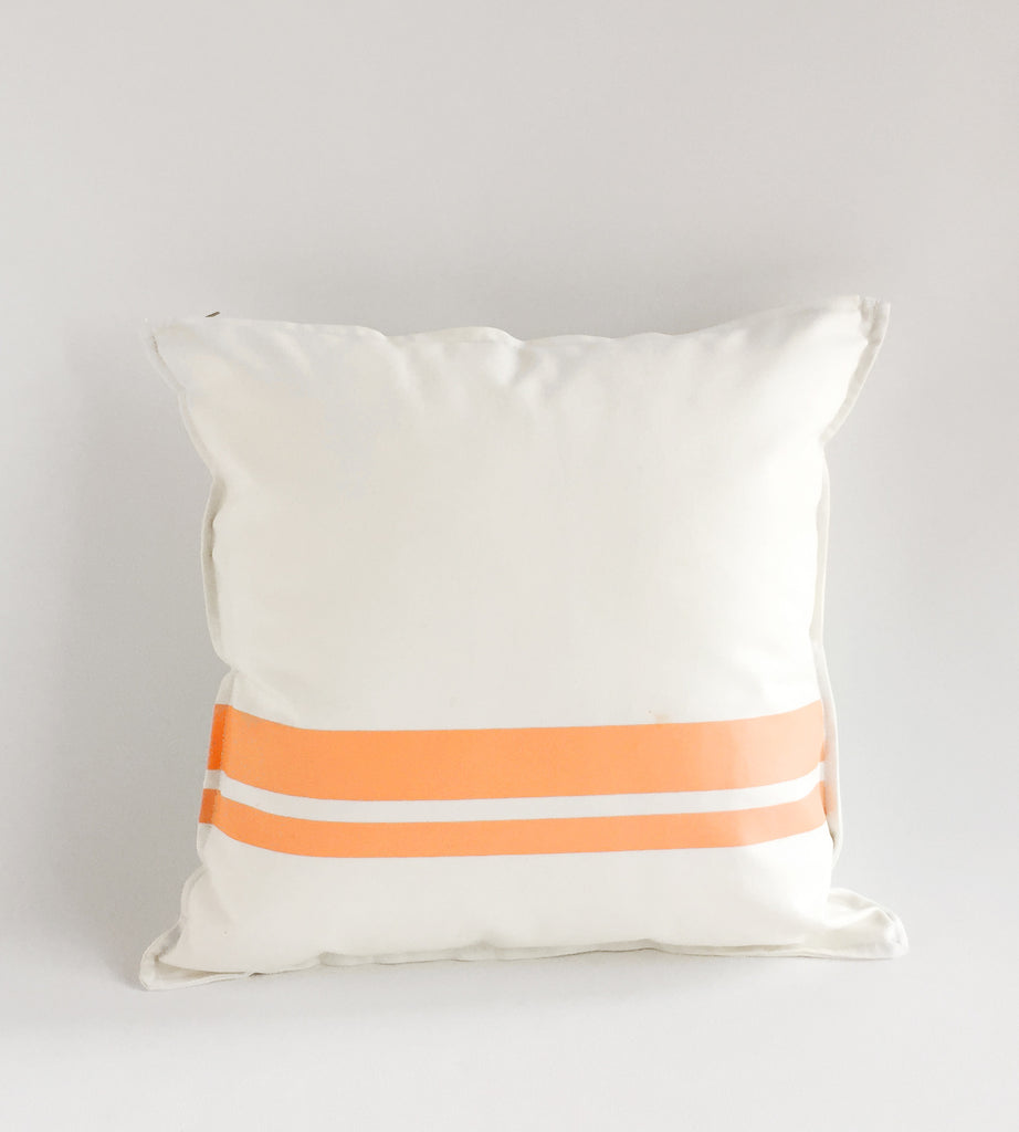 White Cushion Printed Stripes