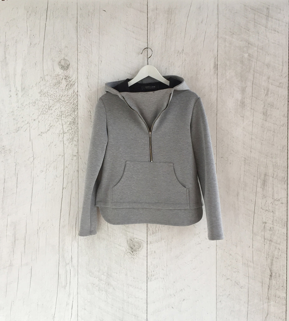 Grey Neoprene Hoody by Faith & Love